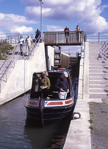 Locks on the lowland canals of Scotland